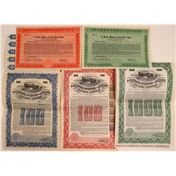 Colorado, Wyoming & Eastern Railway Co. Stock & Bond Collection (5)  106869