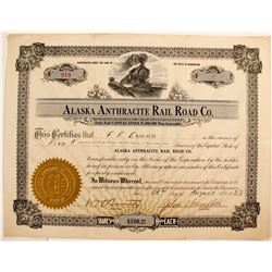 Alaska Anthracite Rail Road Co. Stock Certificate  82211