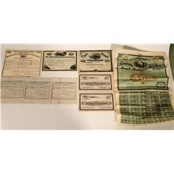 Eastern US Railroad Stock Certificate Group  107439