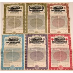 Great Northern Railway Company Specimen Bonds (6)  106660
