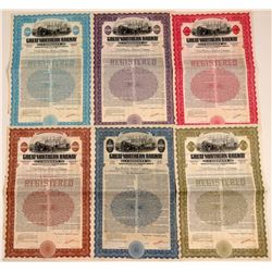 Great Northern Railway Specimen Bonds (6)  106661
