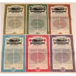 Great Northern Railway Specimen Bonds (6)  106662