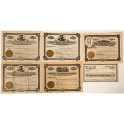 Railroad Parts & Inventions Stock Certificates  107501