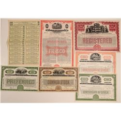 St. Louis-San Francisco Railway Co. Stocks & Bonds (7)  106693