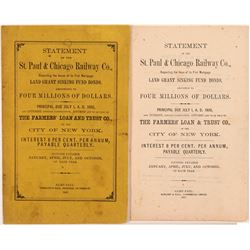 St. Paul & Chicago Railway Statement Booklet  109551
