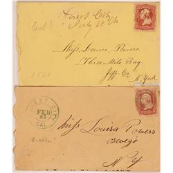 Forest City postal Covers, 1860's  108031