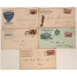Five Michigan Pictorial Advertising Covers  105753