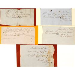 Five Manuscript Rhodes & Lisk Notes  56066