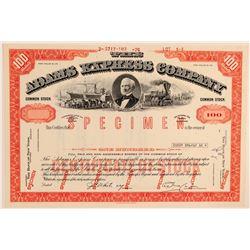Adams Express Company Specimen Stock Certificate  104524