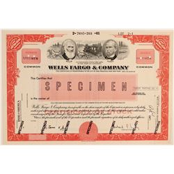Wells Fargo & Company Rare Specimen Stock  104523