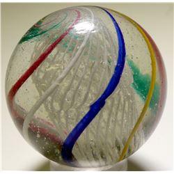 "Marble / Giant "" Latticino Core Swirl ""  100668"