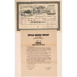 Buffalo Brewing Stock and Handbill  108933