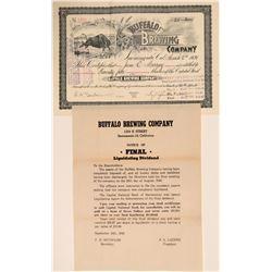 Buffalo Brewing Stock and Handbill  108933