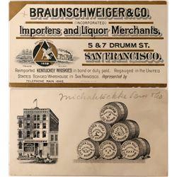 Braunschweiger & Co Liquor Pictorial Business Cards  88305