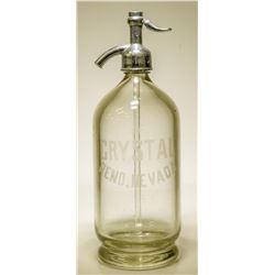 """Seltzer Bottle / """" Crystal """"  106269"""