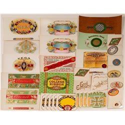 Cigar labels / & Cigar Box Labels / 3 Items ( 32 Pieces In All)...  106259