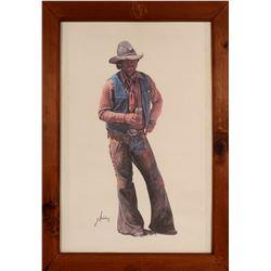 Cowboy, Taking A Break / Coors Beer Advertising.  109621