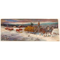 Winter In The Rockies By Barbara Gardner.  109592