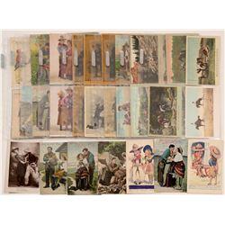 Comic postcard /cowboy series  104959