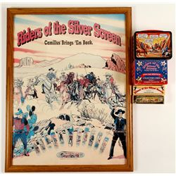 Riders of the Silver Screen Poster, Knife, Collector Cards and 6 Shooter Knife  87424