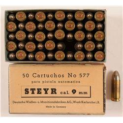 Bullets 9MM STEYR  91462