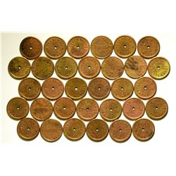 Thirty-one Dewey Trade Check Tokens  108376