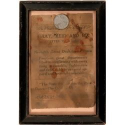 Gray, Reid and Co. Framed Token and Advertisement  108610