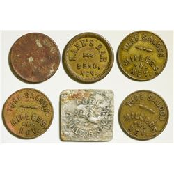 Six Nevada Tokens: Millers, Mason and Reno  108463