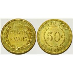 UNCIRCULATED Pland Evans Token, Rio Tinto, Nevada  104509