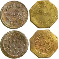 Two nicer Tonopah Saloon Tokens  108384
