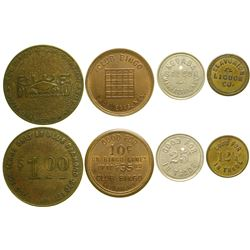 Four Nevada Tokens  89033