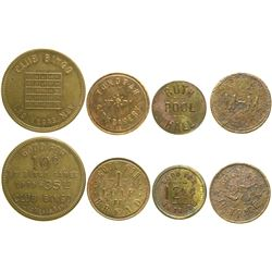 Four Nevada Tokens  89056