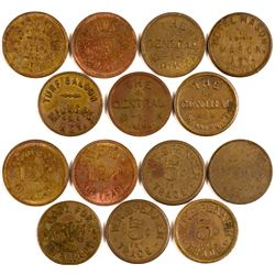 Seven Nevada Tokens - Including Ghost Towns  108476
