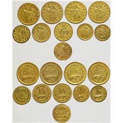 California Gold Tokens  108627