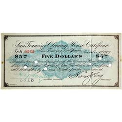 San Francisco Clearing House Certificate  61934
