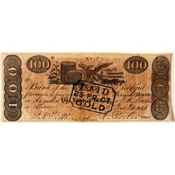 $100, Bank of the State of Georgia  78454