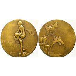 Art Nouveau Nude Medal  108622