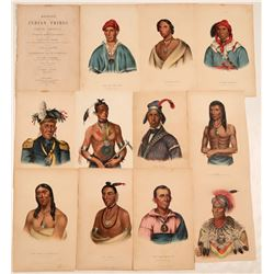 Indian Prints w Peace Medals, McKenney & Hall, 1849  108943