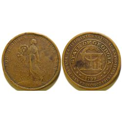 Pan Pacific Exposition Georgia State Fund So Called Dollar  108583