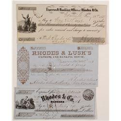 Rhodes  Weaverville Checks, c 1854  87463