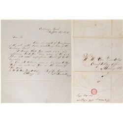 Letter Asking for 2,000 Five Dollar notes of the Exchange Bank of Buffalo  108454
