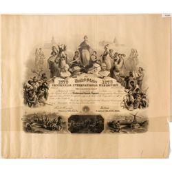 1876 Centennial Expo Stock Certificate  75240