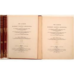 "Books / "" The Science of  Modern Cotton Spinning"" / 2 Items.  109674"