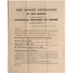 Golden Enterprise of the Season Broadside  108596
