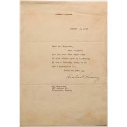 Herbert Hoover Letter  108593