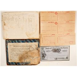 Merchant Union Express Co. Ledger & Forms  76928