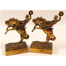 Pompeian Bronze Bookends (2)  109492