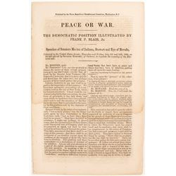 "Senate Speeches on ""Peace or War""  81410"