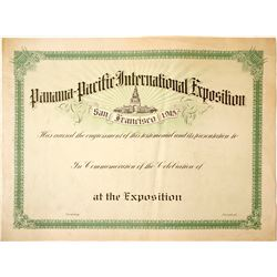 Pan Pacific Large Certificate  85158