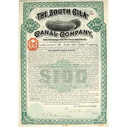 South Gila Canal Company Bond  77005